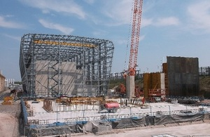 Construction on a Magnox site