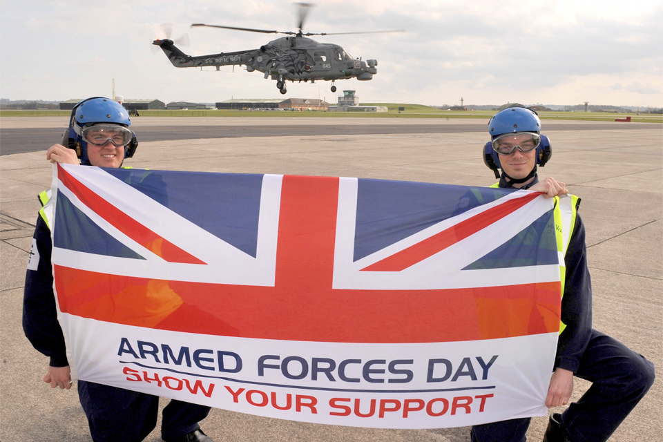 Military personnel at RNAS Yeovilton (library image)