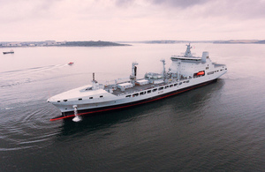 RFA Tideforce arrives in Falmouth ahead of entering service