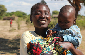 A mother carries her child in Malawi. Picture: Lindsay Mgbor/DFID