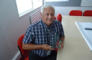 LLWR Manager Mike Coward with the Shared Services Alliance (SSA) Walker Award for Collaborative Working