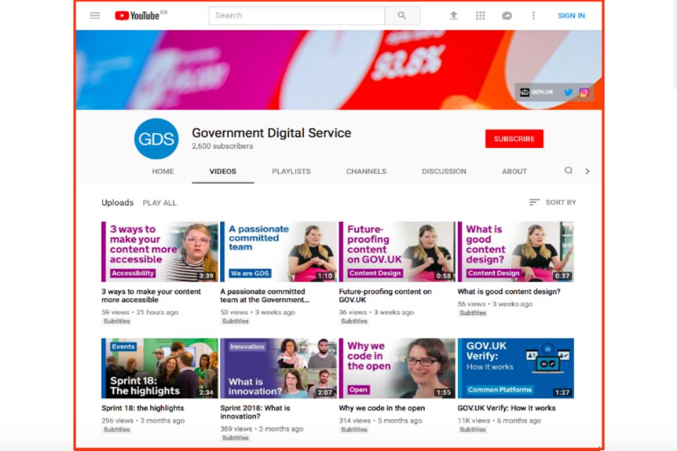GDS YouTube