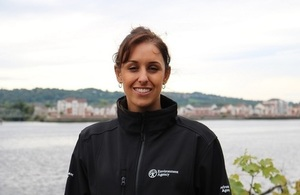 Image shows Taryn Al-mashgari from the Environment Agency