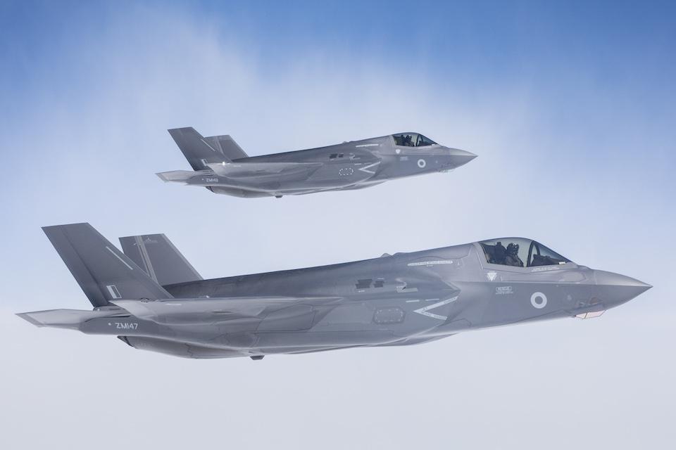 Two F-35B Lightning aircraft