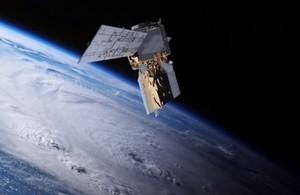 Aeolus spacecraft in space