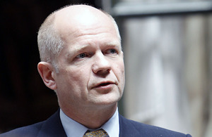The Foreign Secretary William Hague.