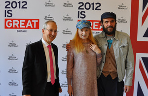 Sir Peter Ricketts, Vivienne Westwood and Andreas Kronthaler