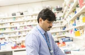 A male pharmacist working