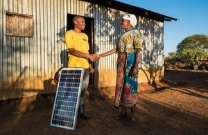 Energise Africa provides a solar panel