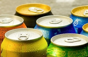Fizzy drinks cans