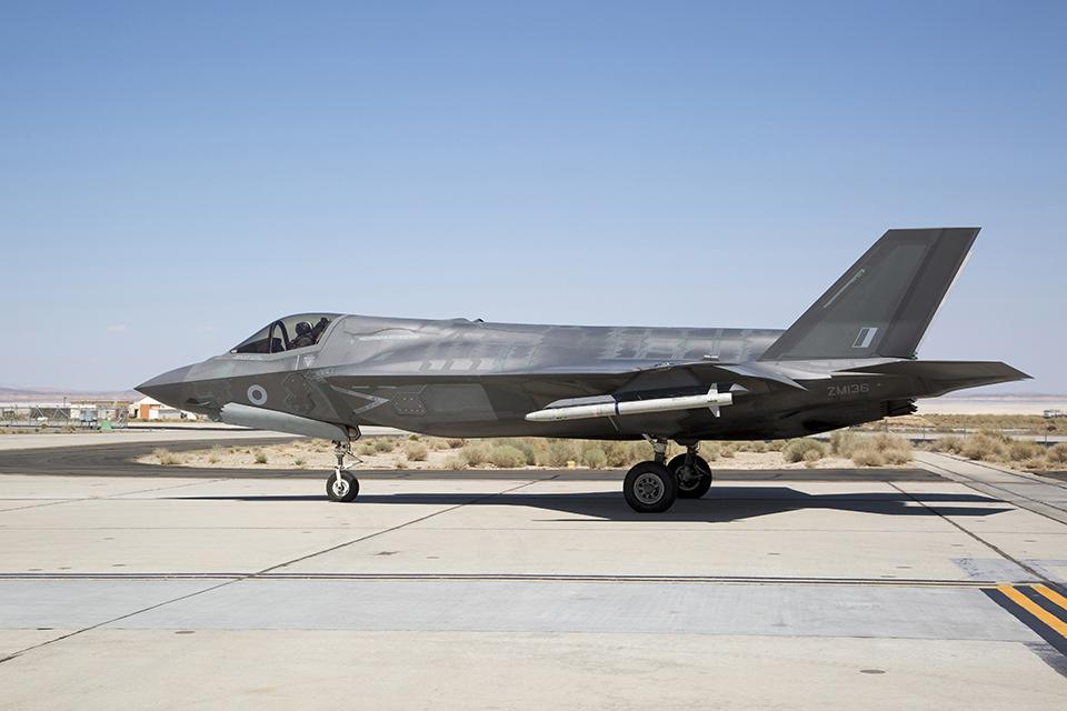 British-armed F-35B Lightning jet takes to the skies. Copyright Lockheed Martin US.