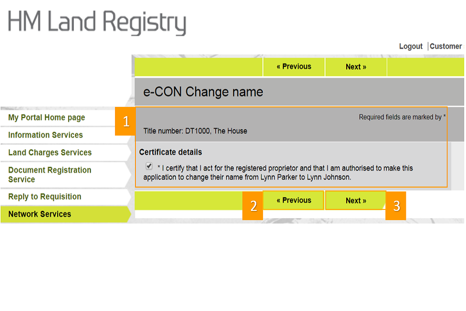 screenshot to show how to certify