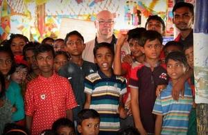 Alistair Burt in Cox's Bazar, Bangladesh. Picture: Alex Sampson / Save the Children