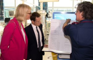 Margot James visits Birmingham Hospital