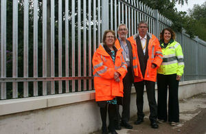 A site visit to look at the completed Stourton Flood Defence Scheme
