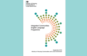 Cover of the integrated communities English language programme prospectus