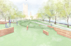 Artist's impression of the memorial (view from hilltop)