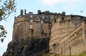Edinburgh Castle and Cliff