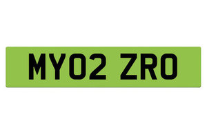 Illustrative image of a potential green licence plate.