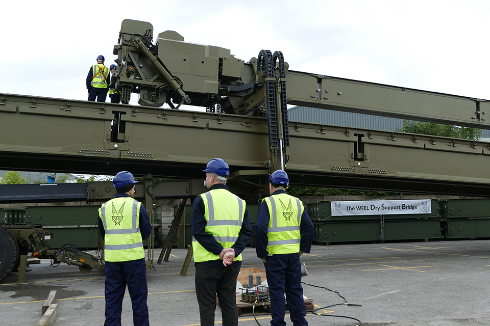 Defence Minister sees Stockport firm finishing multi-million-pound military bridge order for Australian Army. Crown copyright.