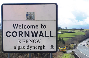 Image of Welcome to Cornwall sign