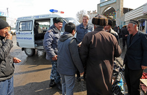 OSCE in Kyrgyzstan working with local police working in multi-ethnic communities