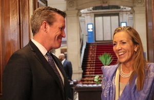 Baroness Fairhead and William McKeon, President & CEO of TMC