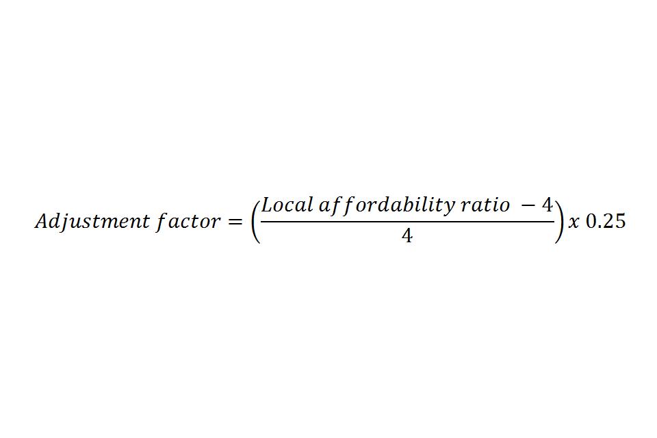 Adjustment factor equation
