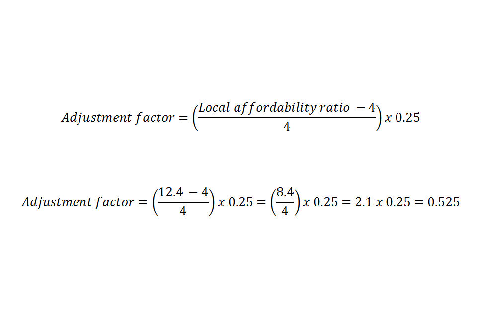 Adjustment factor equation example