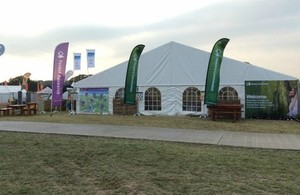 The front of the Forestry Commission's marquee