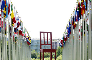 Flags & Chair at the UN in Geneva