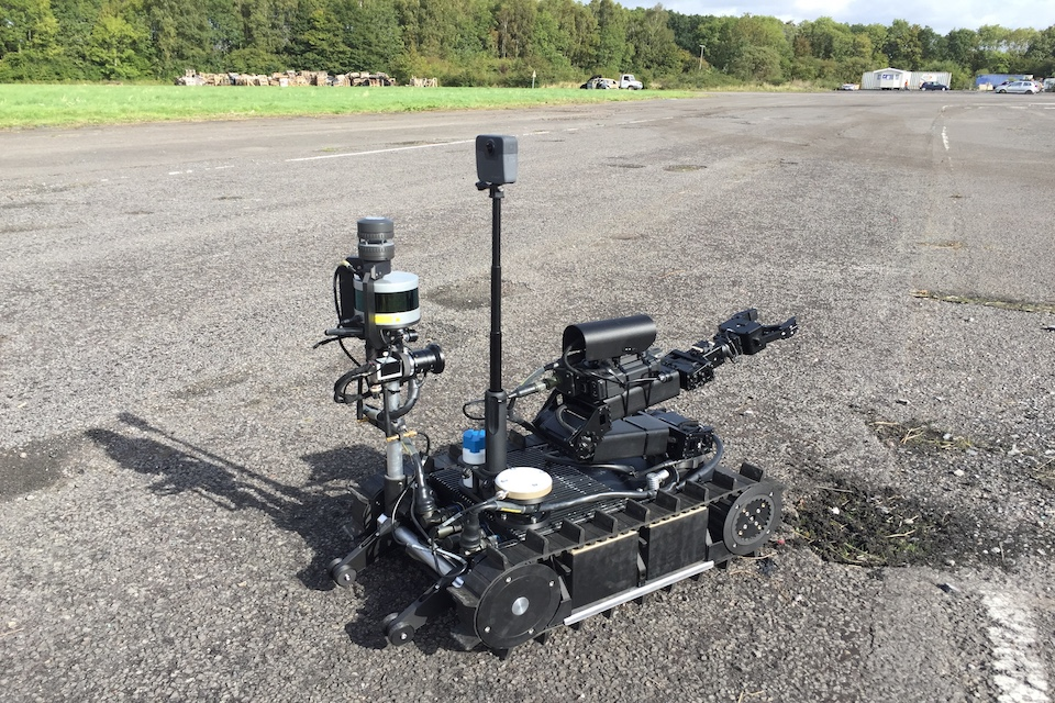 Robot performing trials on test ground.