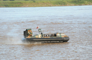 Amphibious vehicles, used for patrolling and support of the armed forces in the fight against drug trafficking and terrorism