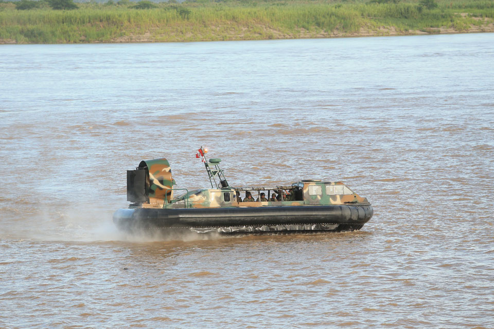 Amphibious vehicles, used for patrolling and support of the armed forces