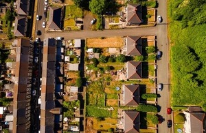 Aerial view of streets of Blaenau Gwent By steved_np3 at Shutterstock