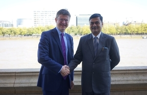Greg Clark and Minister Singh