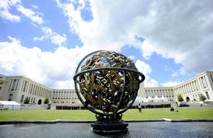 Globe at UN in Geneva