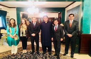 Rehman Chishti MP with Bilawal Bhutto, Sherry Rehman, Elin Burns and Thomas Drew