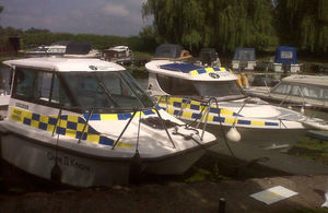 Environment Agency patrol boats