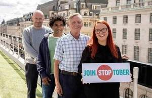 Launch of Stoptober campaign in 2018