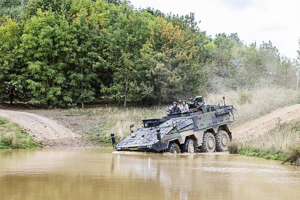 British companies get green light to press ahead with new Army vehicle plans, Defence Minister announces. Crown copyright.