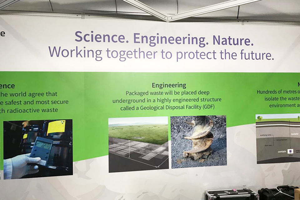 Our stand at the New Scientist Live Exhibition