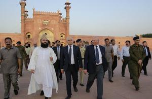 Home secretary visits Pakistan.