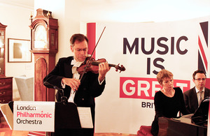 Orchestra leader and violinist Pieter Schoeman