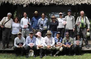 British and Colombian delegation visit the Amazonia