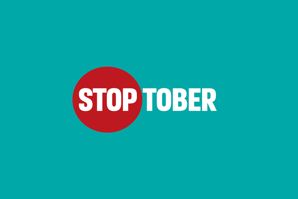 Infographic showing Stoptober logo
