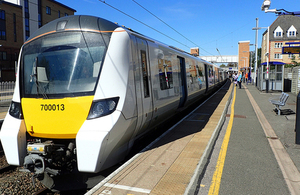 Image of a train similar to the one involved in the accident, at Elstree & Borehamwood station