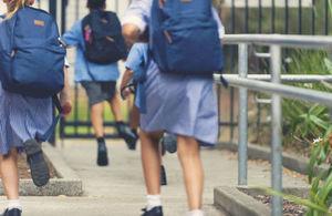 Children at primary school