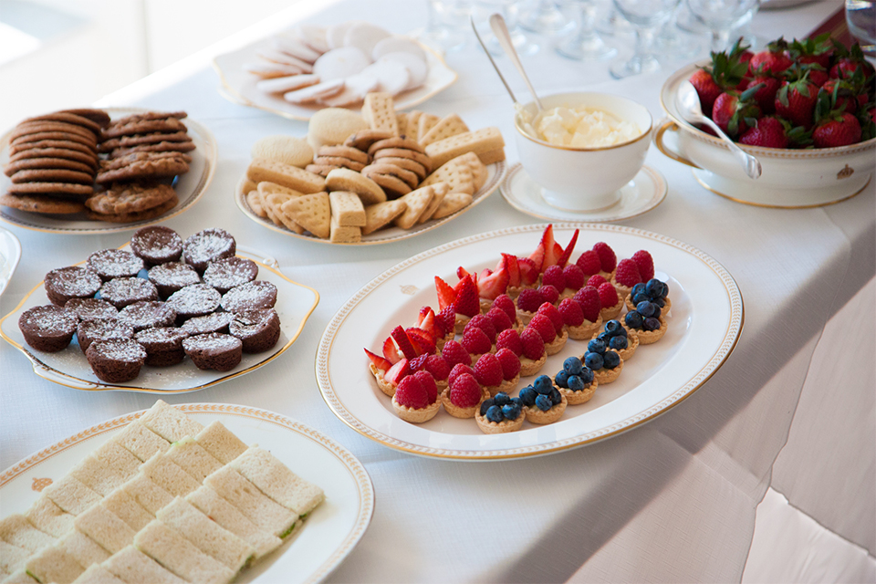 The guests enjoyed a traditional British afternoon tea.