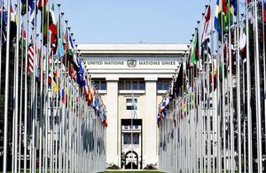 Flags and Palais Geneva